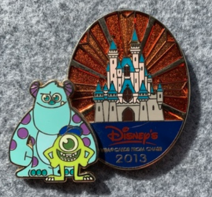 Mike and Sulley - Disney Visa Card Exclusive pin