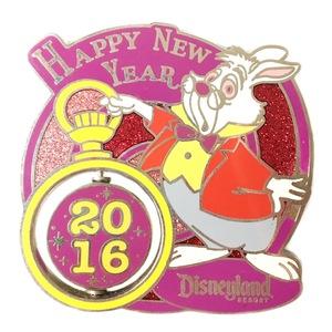 White Rabbit Happy New Year 2016 pin