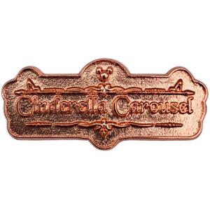 Cinderella Carousel - Storybook Shoppe - Hong Kong Disneyland Signs pin
