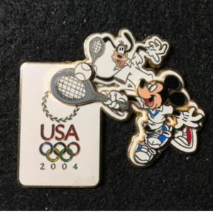 USA 2004 Olympic logo Tennis  pin