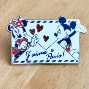 J'aime Paris envelope - Mickey and Minnie  pin
