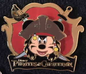 Pirates of the Caribbean Mickey as Jack Sparrow  pin