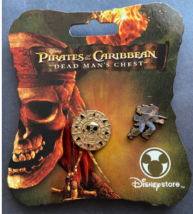 Pirate's of the Caribbean - Dead Man's Chest -Gold Aztec coin Jack Sparrow mini pin Disney Store  pin