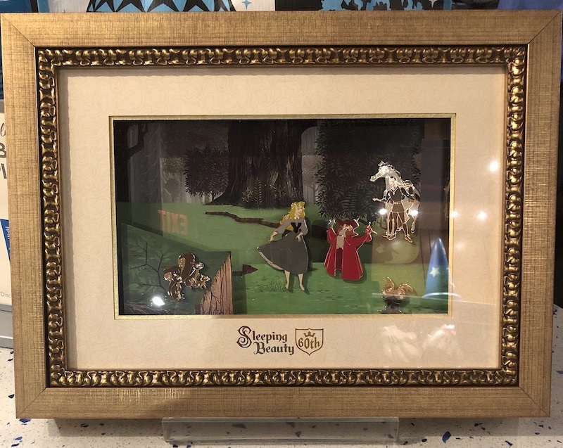Sleeping Beauty framed pins in Fantasia Gift Shop