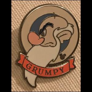 Seven Dwarfs Hidden Mickey 2018 Banner Names - Grumpy pin