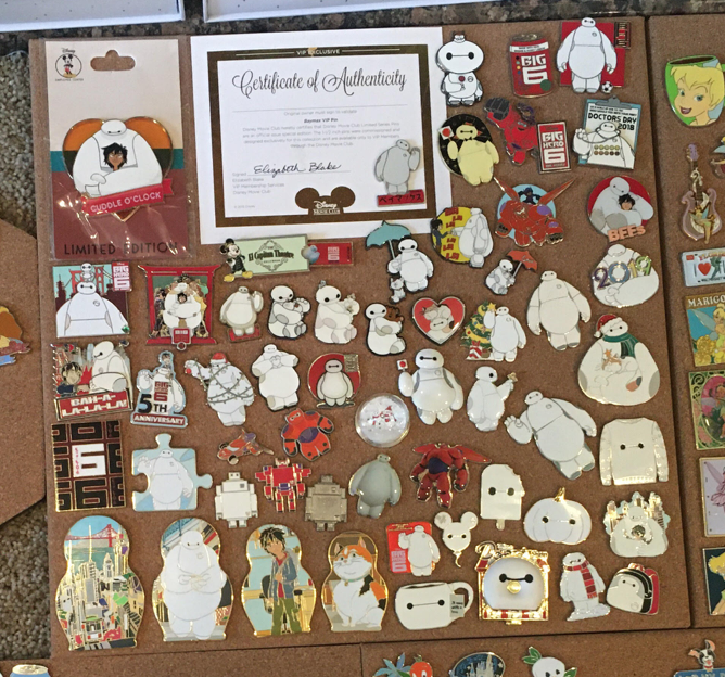 Michelle's Baymax collection
