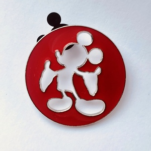 Cut out Mickey silhouette pin