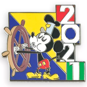 Steamboat Willie - Mickey Mouse and Friends Mystery Pin Set 2021 pin