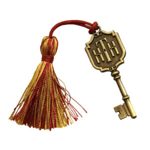 WDW - Twilight Zone Tower of Terror - Hollywood Tower Hotel Key - Hollywood Studio's Maroon/Gold Tassel pin