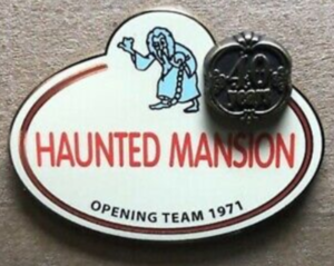 Haunted Mansion Cast Name Tag pin