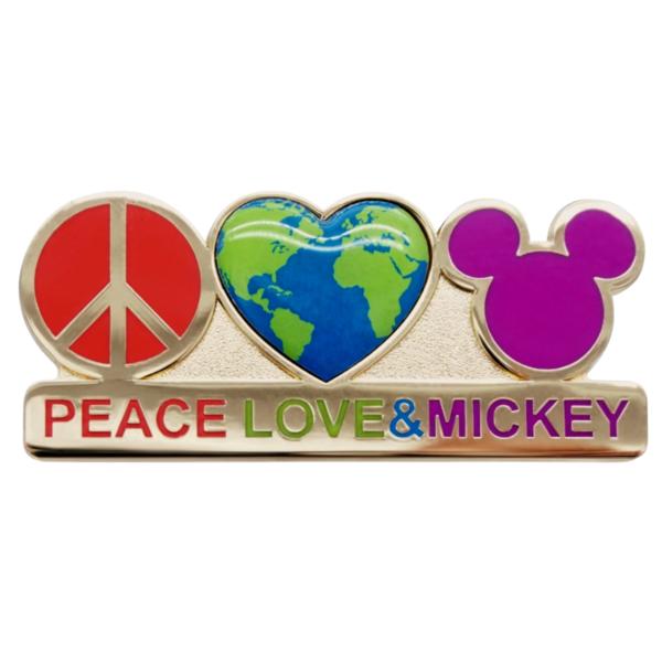 Mickey Mouse ''Peace, Love & Mickey'' Pin pin