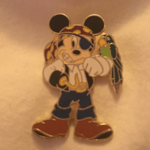 Mickey pirate with parrot pin