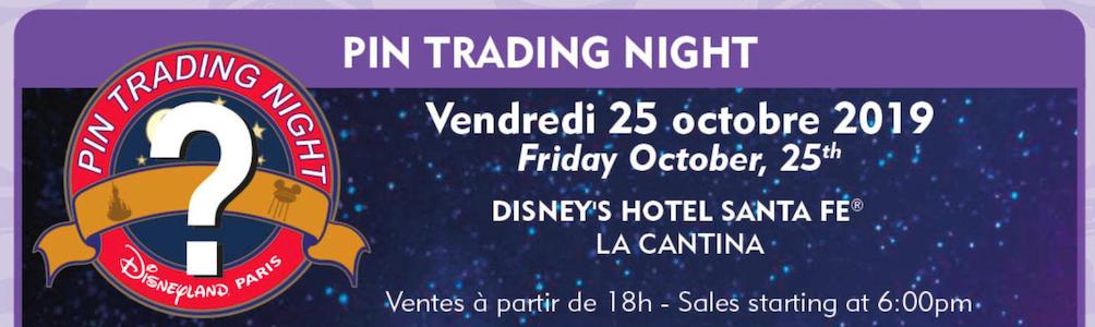 October pin trading night at Disneyland Paris