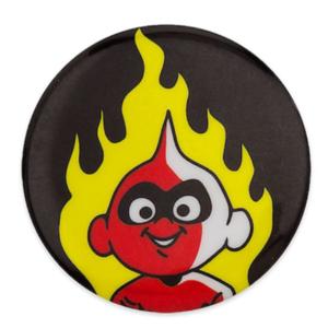 Jack Jack flame button/badge pin