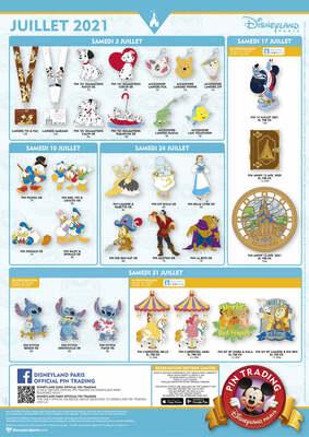 Disneyland Paris July 2021 Pin Releases