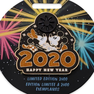 Mickey and Minnie Mouse 2020 New Years pin