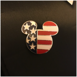 Mickey Mouse American flag  pin