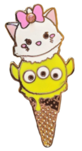 Marie and Toy Story Alien - Tsum Tsum Ice Cream Cone pin