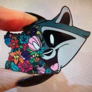 Meeko flower face pin
