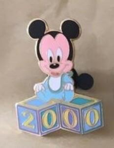 Baby Blocks 2000 - Mickey pin