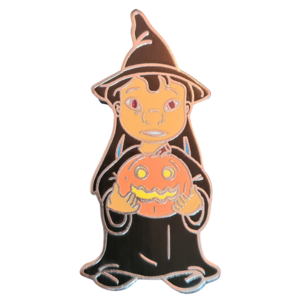 Lilo holding a pumpkin pin