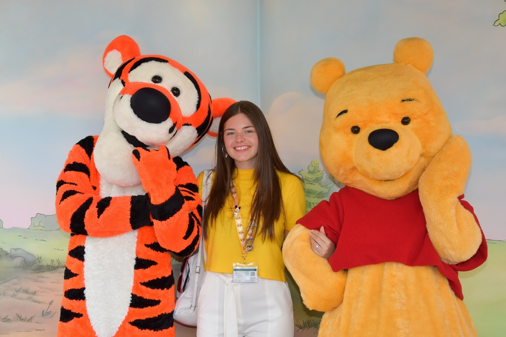 Clair with Tigger and Pooh