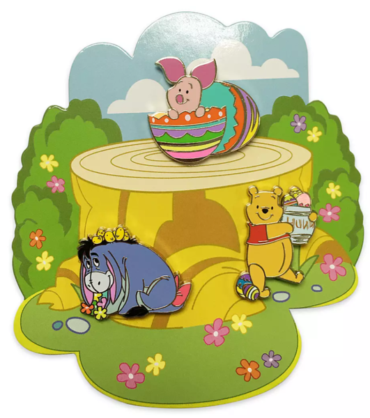 Eeyore with chicks - Winnie the Pooh and Pals Easter Flair Pin Set pin