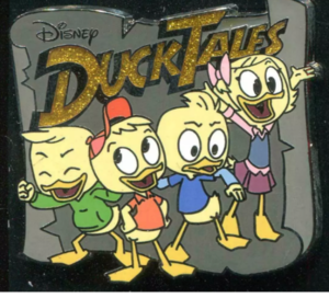 Ducktales Huey, Dewey, Louie and Webby pin