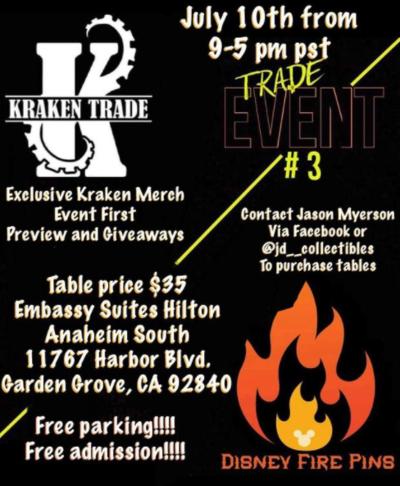 Kraken Trade & Disney Fire Pins Trade Event #3