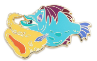 Saxophone playing fish pin