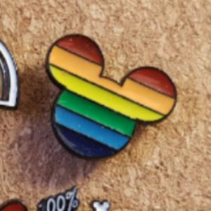 Primark Rainbow Mickey- Mickey Head pin
