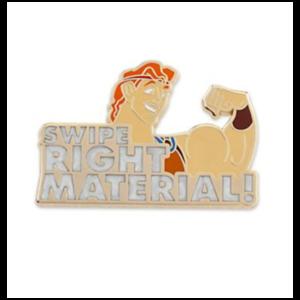 Swipe right material Hercules pin