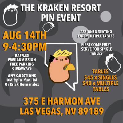 The Kraken Resort Pin Event