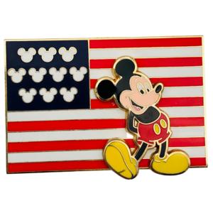 American Flag - Mickey Mouse pin on pin  pin