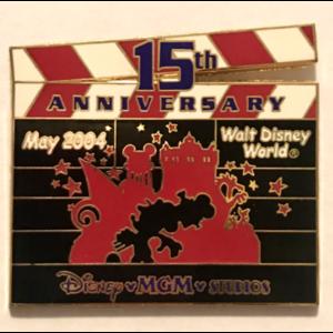 Disney's MGM Studios 15th Anniversary Clapboards — Park Backdrop pin