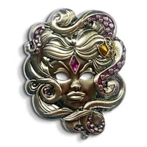 Ursula's Midnight Masquerade mask pin
