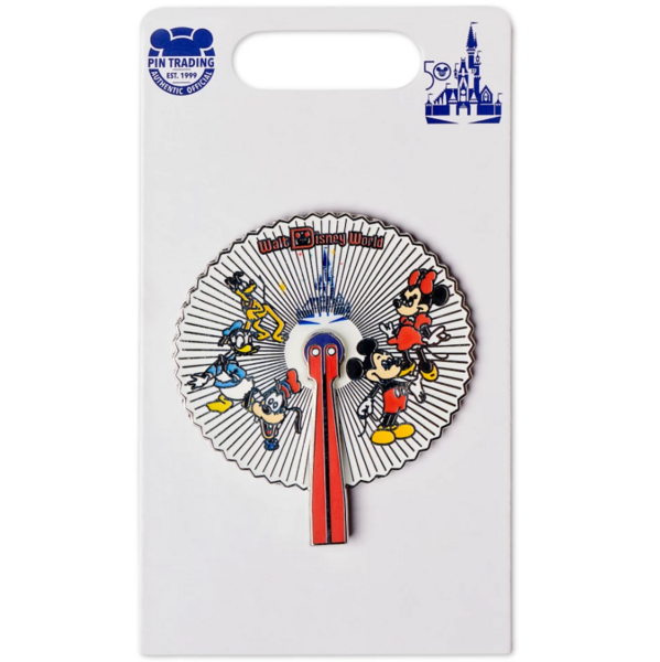 Mickey Mouse and Friends Fan – Walt Disney World 50th Anniversary pin