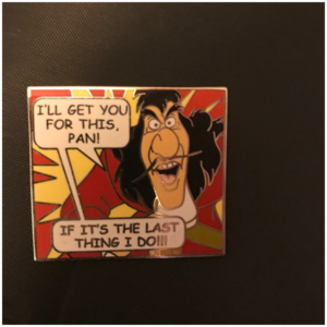 Captain Hook Mystery pin