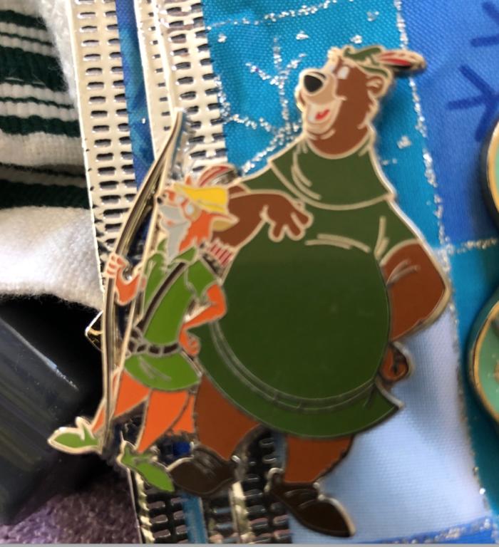 Robin Hood and Little John pin