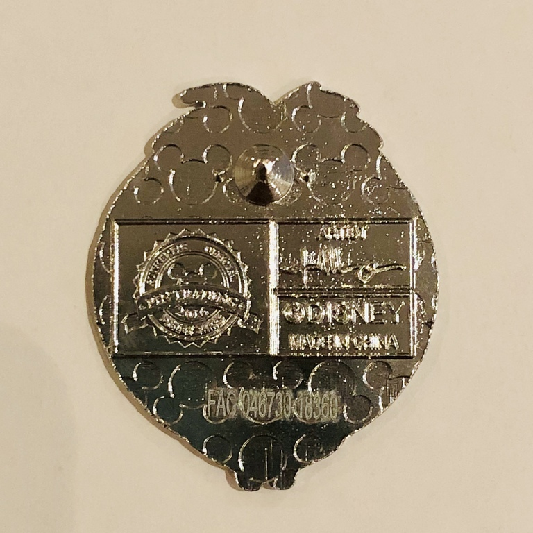 The back of the pin showing the post