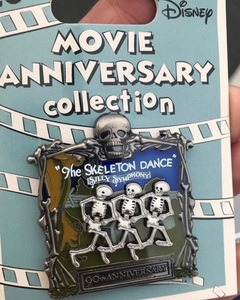 Cast Member Movie Anniversary The Skeleton Dance pin pin
