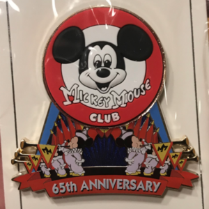 Mickey Mouse Club 65th anniversary cast member exclusive pin