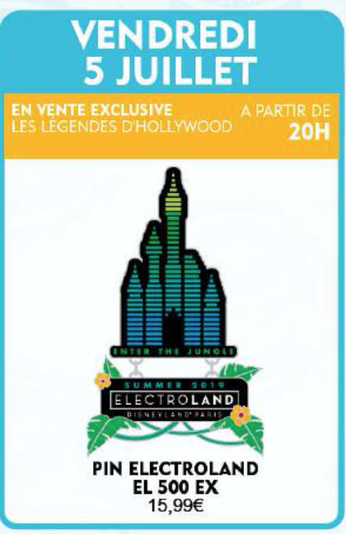 Legends of Hollywood electroland pin
