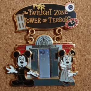 Featured Attraction Collection 2008 - Mickey & Minnie Tower of Terror pin