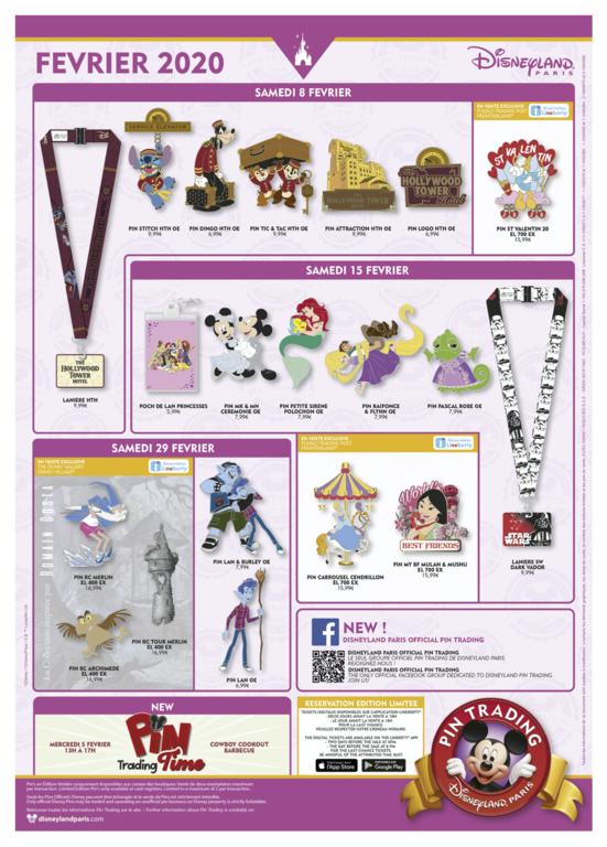 Disneyland Paris pin release flyer February 2020