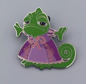 Pascal in Rapunzel's Dress pin