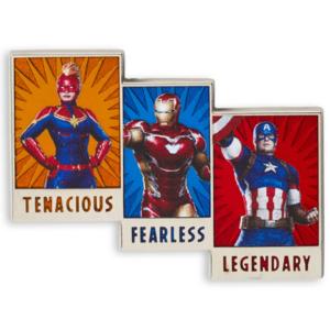 Marvel - Tenacious, fearless, legendary pin