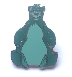 Baloo sitting and smiling pin