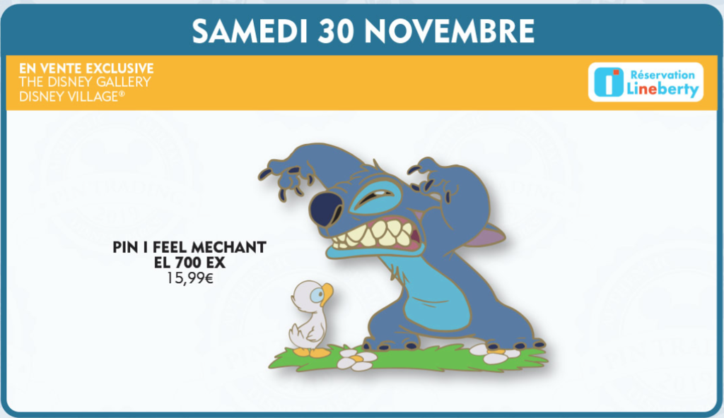 November 30th pin release - Stitch Mechant pin