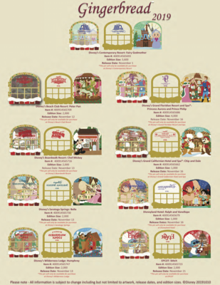 Gingerbread pin releases 2019